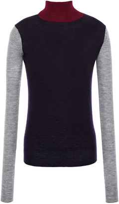 Joseph Color-block Cashmere Turtleneck Sweater