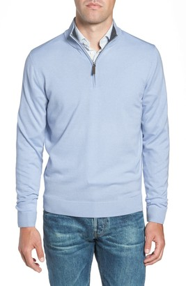 Nordstrom Quarter Zip Wool Pullover (Big & Tall Available)