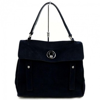 Saint Laurent Muse Two Navy Suede Handbags