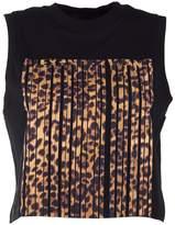 Alexander Wang Leopard Barcode Print Cropped Cotton-jersey Tank Top