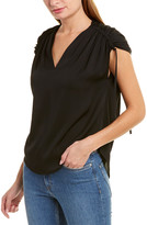 Vince Ruched Silk-Blend Top