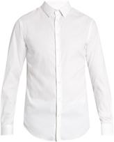 Giorgio Armani Single-cuff diamond-jacquard shirt