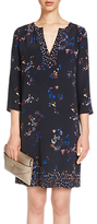 Oui Floral Print Tunic Dress, Dark Blue