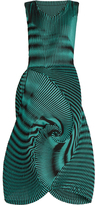 Issey Miyake Optical 1 pleated-swirl dress