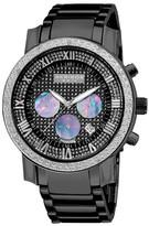 Akribos XXIV Men&s Quartz Chronograph Diamond Bracelet Watch - 0.06 ctw