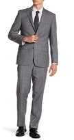 Simon Spurr Grey Plaid Two Button Notch Lapel Wool Suit