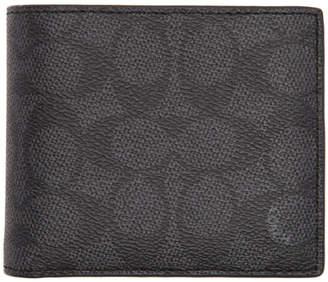Coach 1941 Black Signature Compact ID Wallet