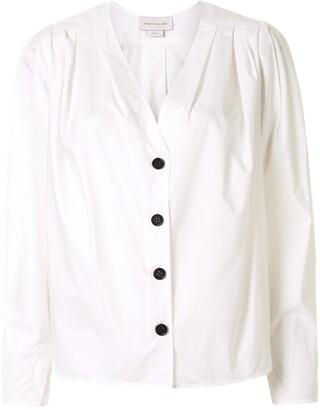 Karen Walker Arboretum V-neck cotton shirt
