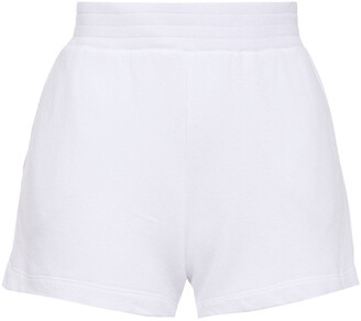 Enza Costa French Cotton-blend Terry Shorts