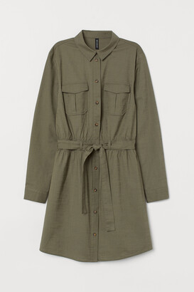 H&M Cotton utility dress