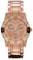 Relic® Beth Ladies' 34.5mm Crystal-Accented Subdial Watch in Rose Goldtone Stainless Steel