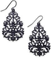 Thalia Sodi Jet-Tone Filigree Teardrop Drop Earrings, Only at Macy's