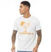 Converse Mens Star Chevron Palm Trees And Hoops T-Shirt White