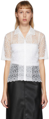 Commission SSENSE Exclusive White Lace Bowling Short Sleeve Shirt
