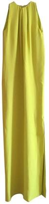 Christian Dior Yellow Silk Dress for Women