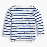 J.Crew Girls' striped emoji T-shirt
