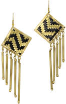 Mela Artisans Lolita Black&Gold Earrings