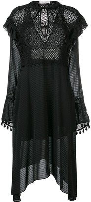 Philosophy di Lorenzo Serafini Crochet Detail Sheer Dress