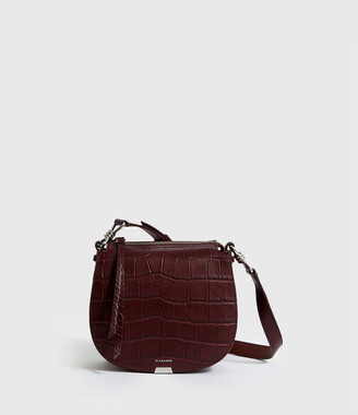 AllSaints Polly Small Round Leather Crossbody Bag