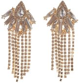 Charlotte Russe Rhinestone Fringe Drop Earrings