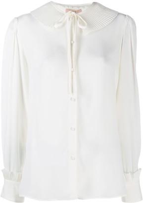 Twin-Set Pleated Collar Shirt