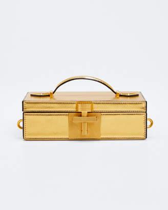 Oscar de la Renta Alibi Framed Minaudiere Bag, Gold