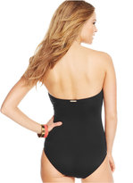 Vince Camuto Graphic-Print Bandeau One-Piece Swimsuit