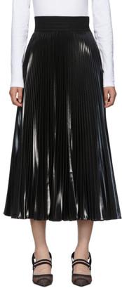Fendi Black Pleated Resin Skirt