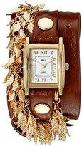 La Mer Women's LMCW9002 Gold Multi Leaf Charms Wrap Watch