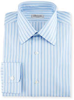 Charvet Striped Cotton Dress Shirt, Blue/White