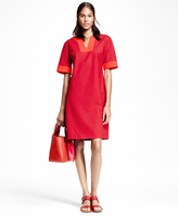 Brooks Brothers Textured Cotton Tunic Dress