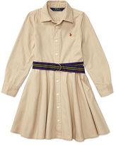 Ralph Lauren 2-6X Cotton Chino Shirtdress