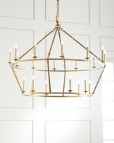 Visual Comfort Darlana Large Two-Tiered Ring Chandelier