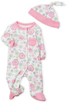 Offspring Newborn/Infant Girls) 2-Piece Floral Footie & Beanie Set