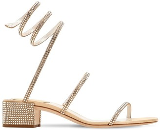 Rene Caovilla 40MM SWAROVSKI SNAKE SATIN SANDALS