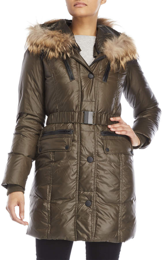 Atelier Noir By Rudsak Claudine Real Fur Hooded Parka