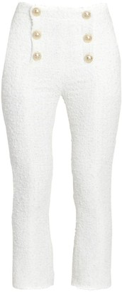 Balmain Cropped Tweed Sailor Pants