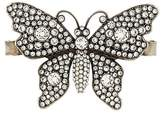Gucci crystal-embellished butterfly palm bracelet