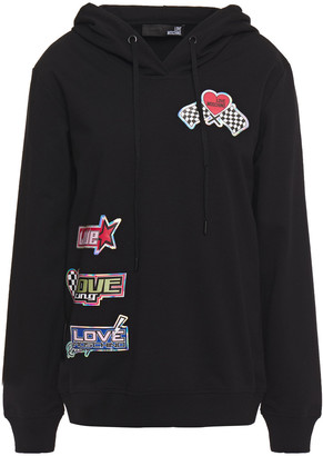 Love Moschino Printed French Cotton-blend Terry Hoodie