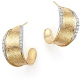 Marco Bicego 18K Yellow Gold Diamond Lunaria Hoop Earrings