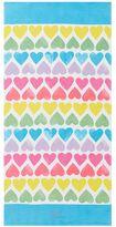 Pottery Barn Kids Allover Rainbow Hearts Kid Beach Towel