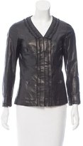 Chanel Leather Three-Quarter Sleeve Jacket w/ Tags