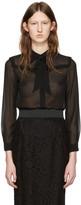 Miu Miu Black Ruffle Shirt