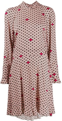 RED Valentino Lip-Print Dress