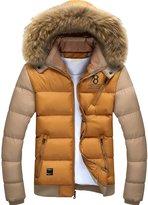 URBANFIND Men's Slim Wear Thick Hooded Fleece Outerwear Jacket