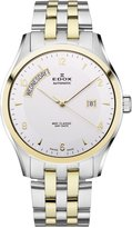 Edox Men's 83013 357J AID WRC Automatic Day Date 2 Tone Stainless Steel Bracelet Watch