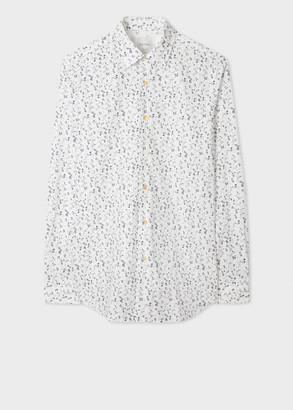 Paul Smith Men's Classic-Fit White Ditsy Floral Shirt