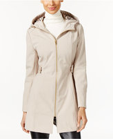 Via Spiga Hooded Water Resistant Softshell Raincoat