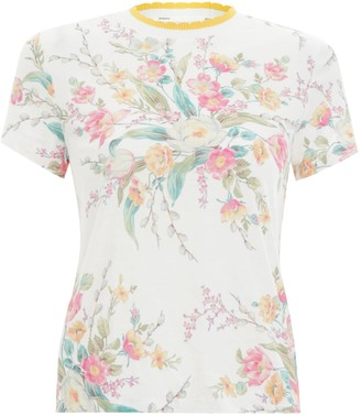 Zimmermann Zinnia Floral Print Fitted Tee