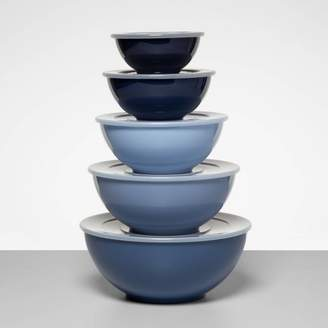 Made By Design 5pc Plastic Mixing Bowl Set with Lids Blue - Made By DesignTM